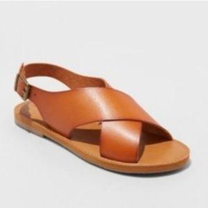Universal Thread Brown Strappy Sandals